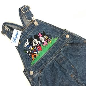 Disney Mickey Mouse Overalls 12 month New w Tag